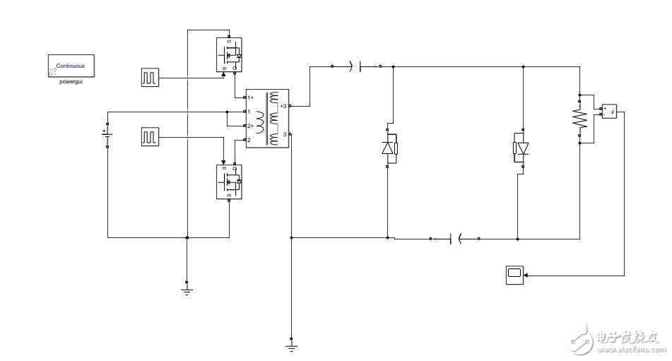 simulink仿真推挽变换器,变压器设置