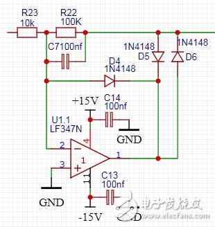运放电路中串电容二极管分析