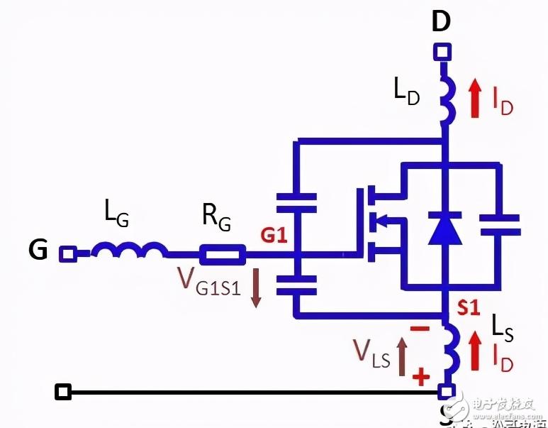 上下管源極寄生電感對開關性能的影響