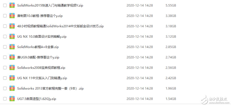 UG、Proe、Creo、Solidworks各种全套视频教程248G