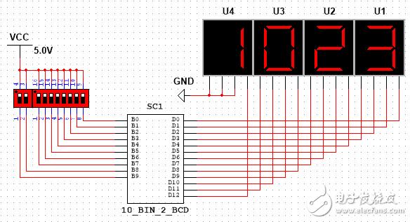 10位二進制轉BCD碼