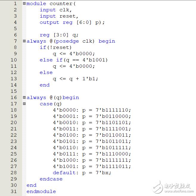 7位數碼管模10計數器,板子跑不起來,請看看問題出在哪里?