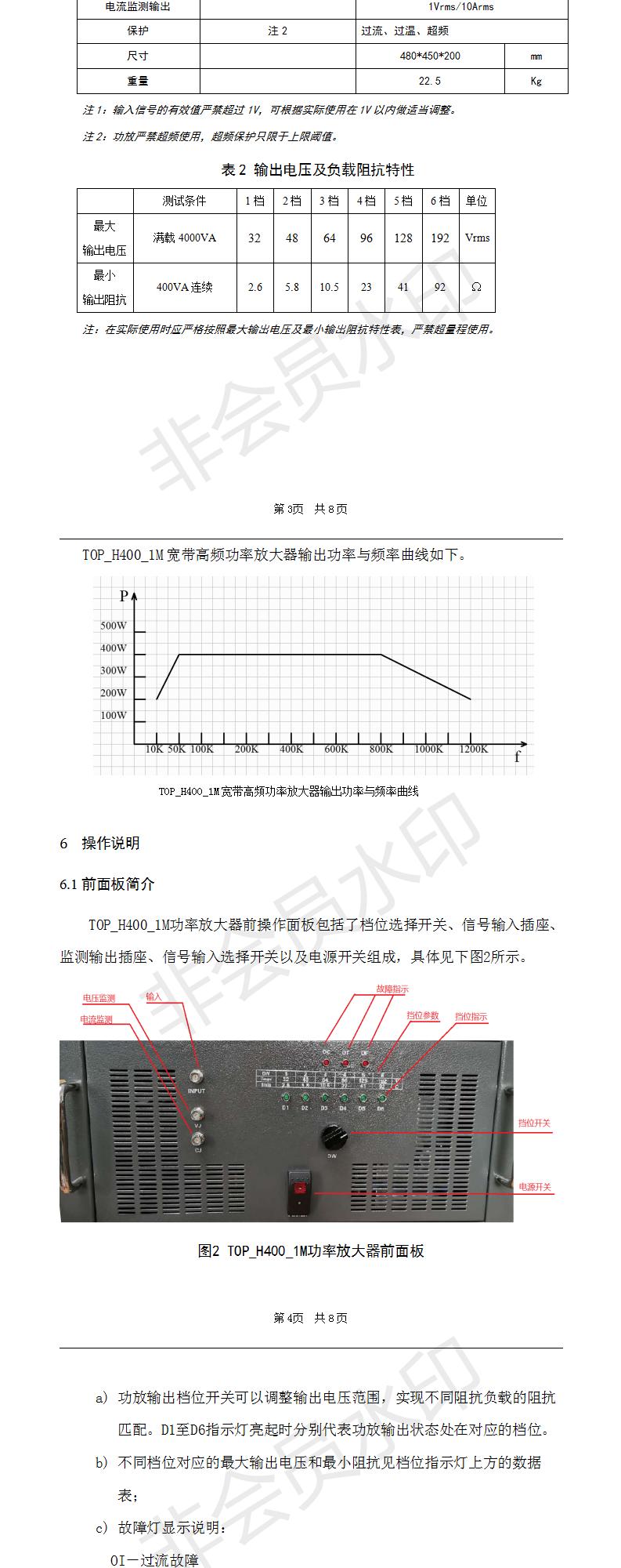 TOP_H400_1M功率放大器操作手册