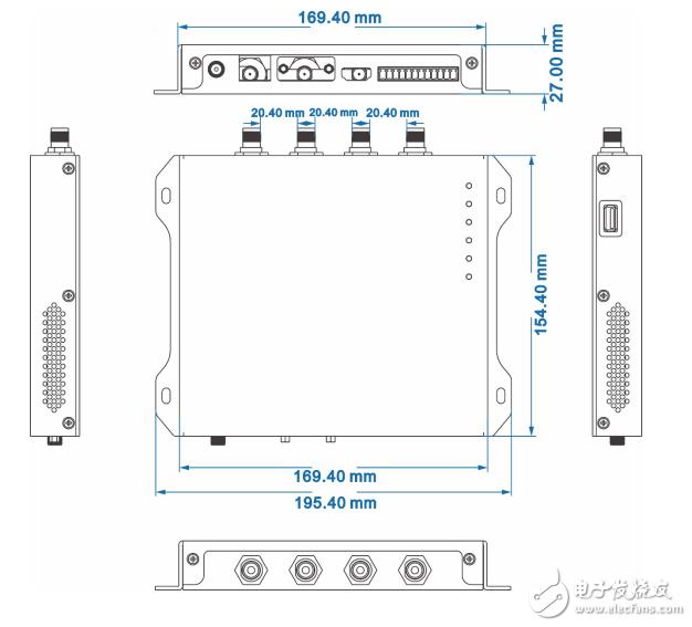 超高频RFID四通道读写器参数