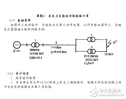 电力系统对称短路计算的设计