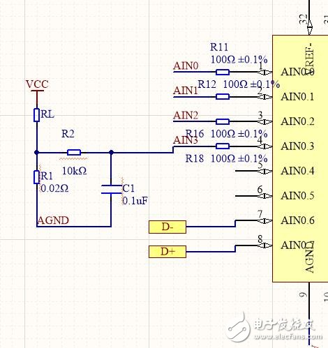 C8051F350 ADC前端阻容电路怎么确定参数
