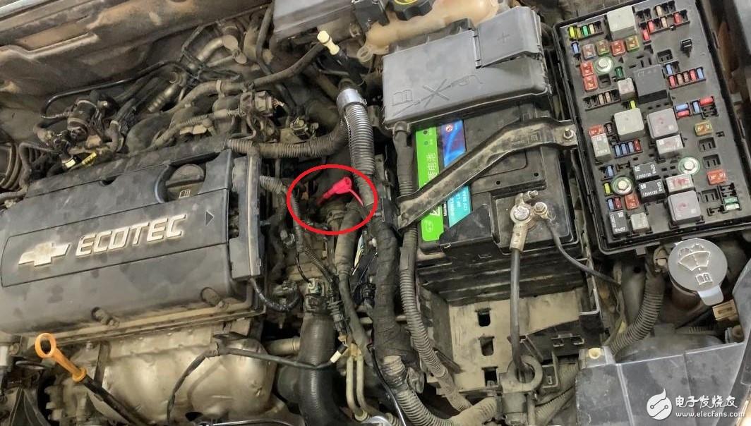 汽修冷却液温度传感器信号汽车示波器测量
