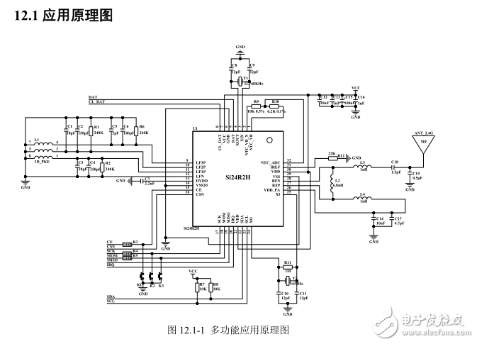 SI24R2H内置SOC 125KHZ 可测温可低频唤醒 技术开发资料