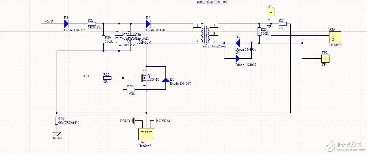 求问图中各个二极管的作用?