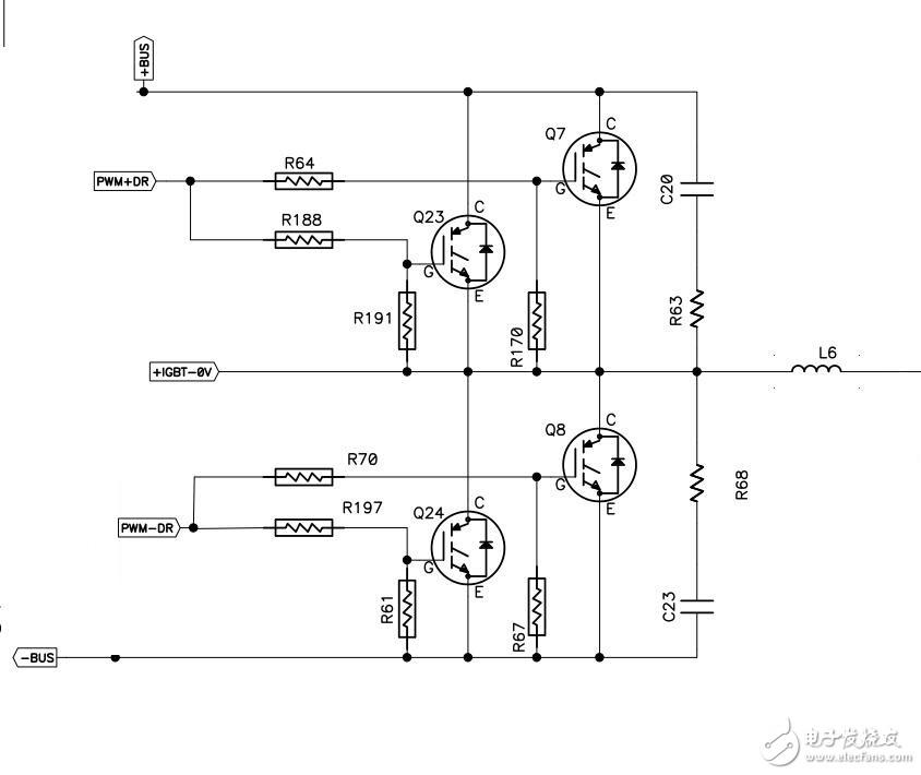 IGBT逆变电路,请问这种主电路是怎么工作的呢?请大神指教。