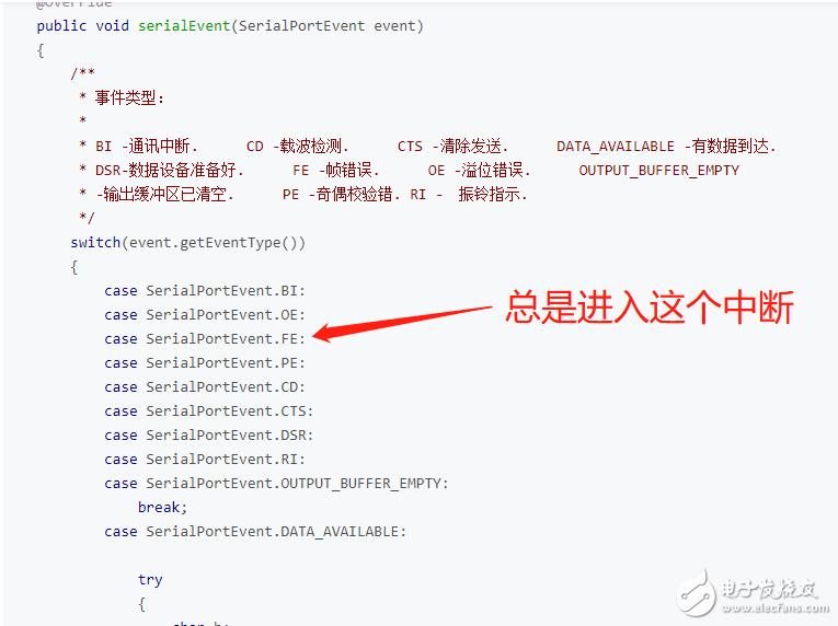 程序接收 RS232串口的数据,出现帧错误(Frame Error),可能是啥原因?