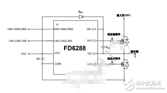FD6288的典型应用原理图