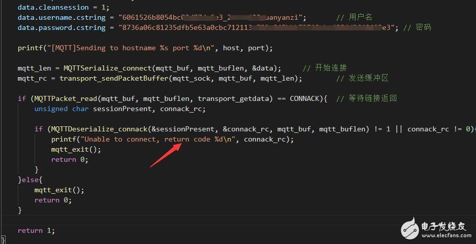 c语言连接华为MQTT服务器,始终没连接上,已贴出代码图