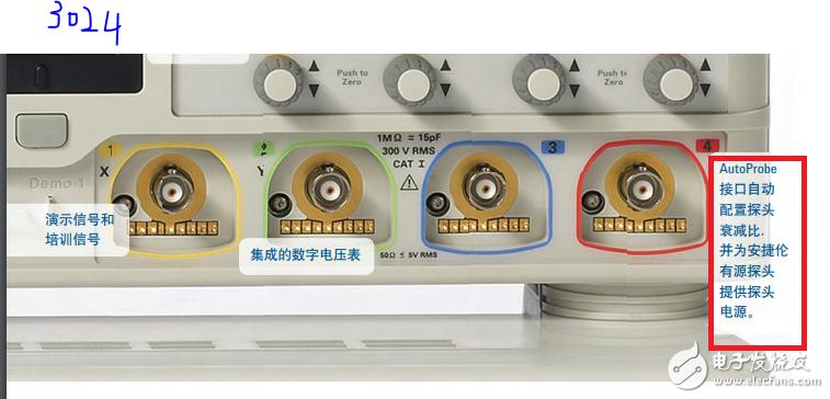 示波器 auto probe 9針引腳定義