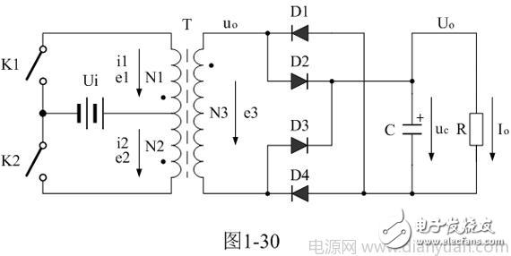推挽变压器初级与次级,同名端与异名端问题?