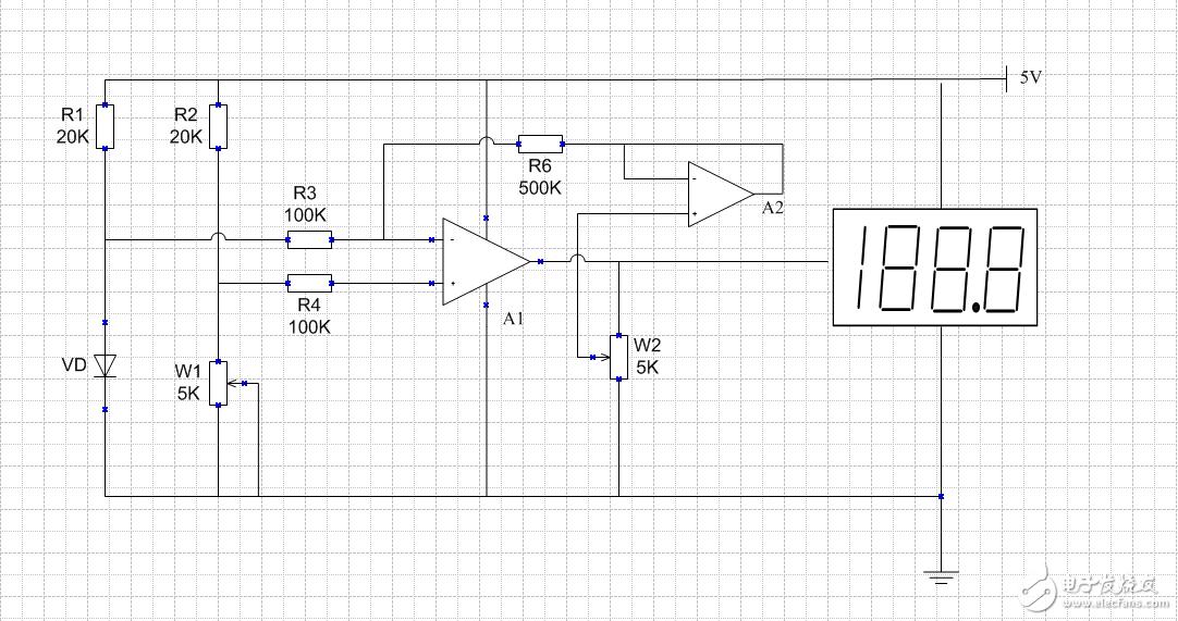 怎样将两个opa放大器改为一个?
