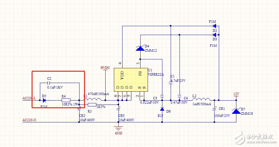 VIPER22A 充電電阻損壞