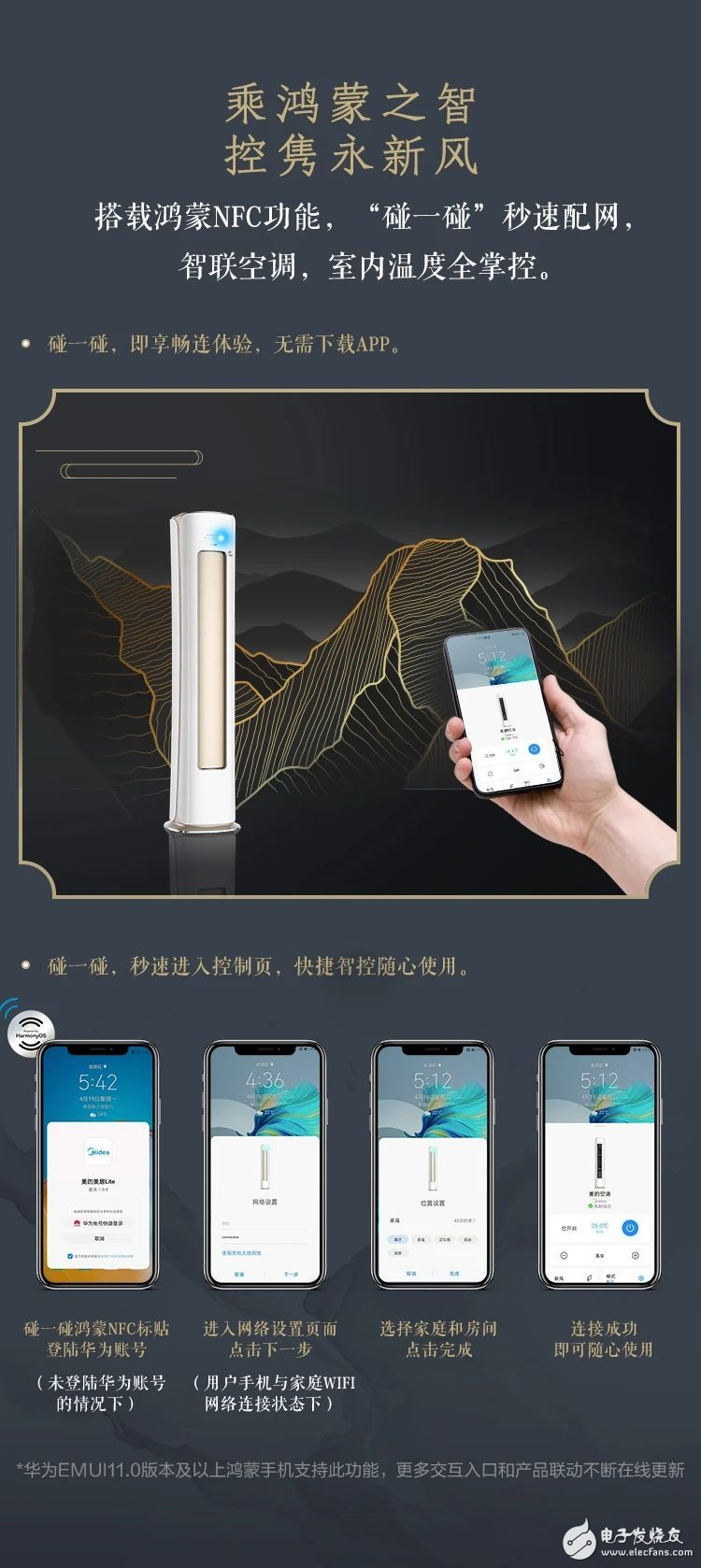全球首款搭載華為鴻蒙系統的智能空調首發上市!美的創造
