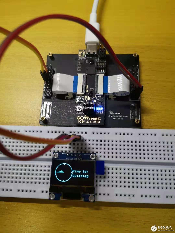【FPGA开发者项目连载】基于ministar开发板的OLED指针电子钟