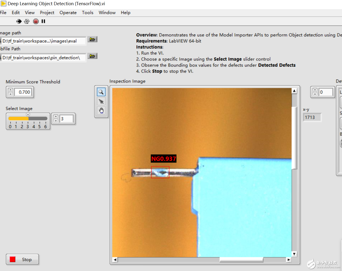 labview调用深度学习tensorflow模型非常简单,附上源码和模型
