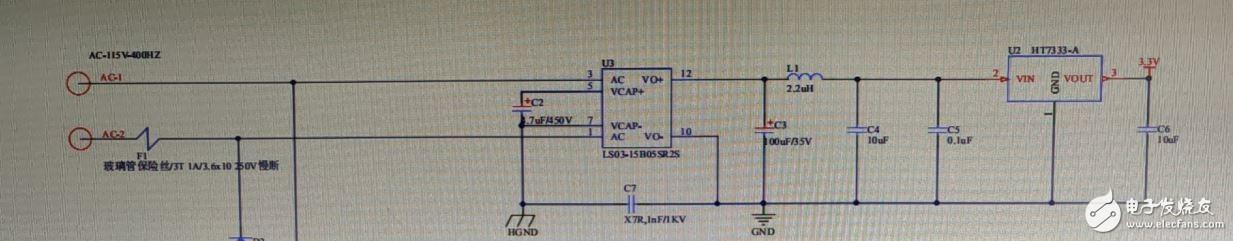 单片机供电不稳,AC-DC模块输出电压振荡