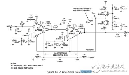 我做的ADI公司的中頻agc放大器,agc回路沒有電壓,求大佬分析分析