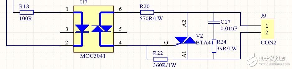 光耦驱动可控硅,在关断状态下烧吸收电路电阻,求分析