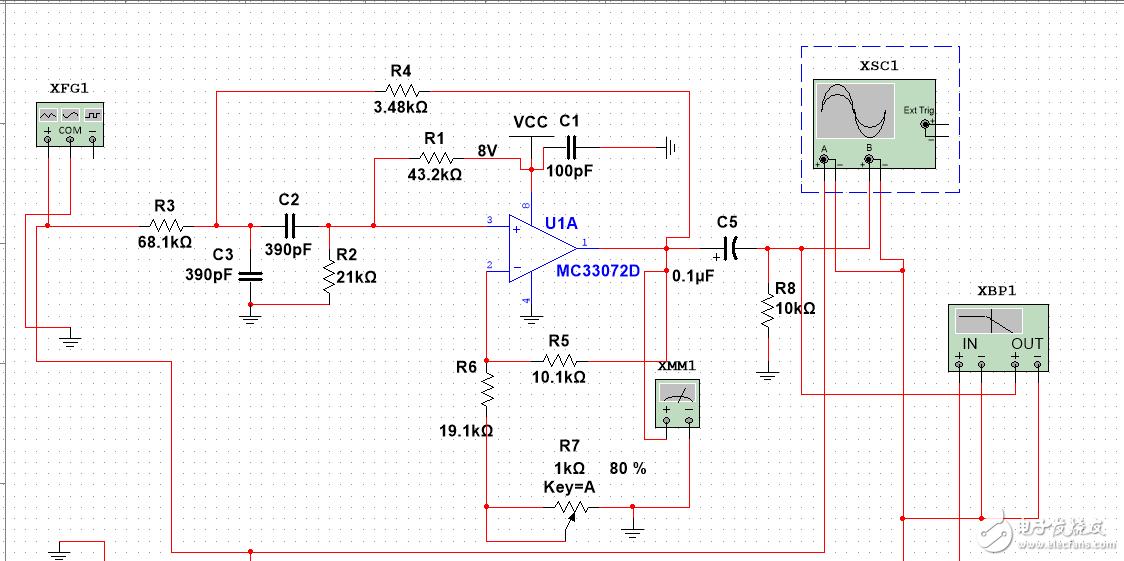 有源滤波器输入端上拉电阻