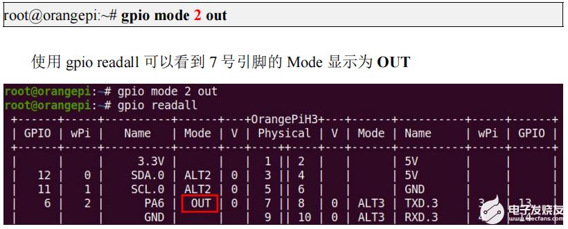 全志H3芯片OrangePi Lite开发板40 Pin的GPIO口测试