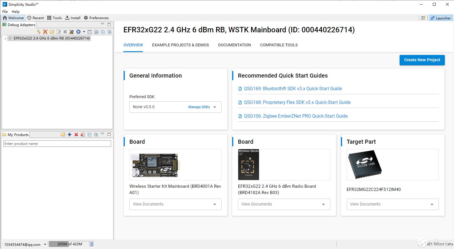 【益登科技 Silicon Labs SLWSTK6021A开发板试用体验】【2】老老实实点个灯