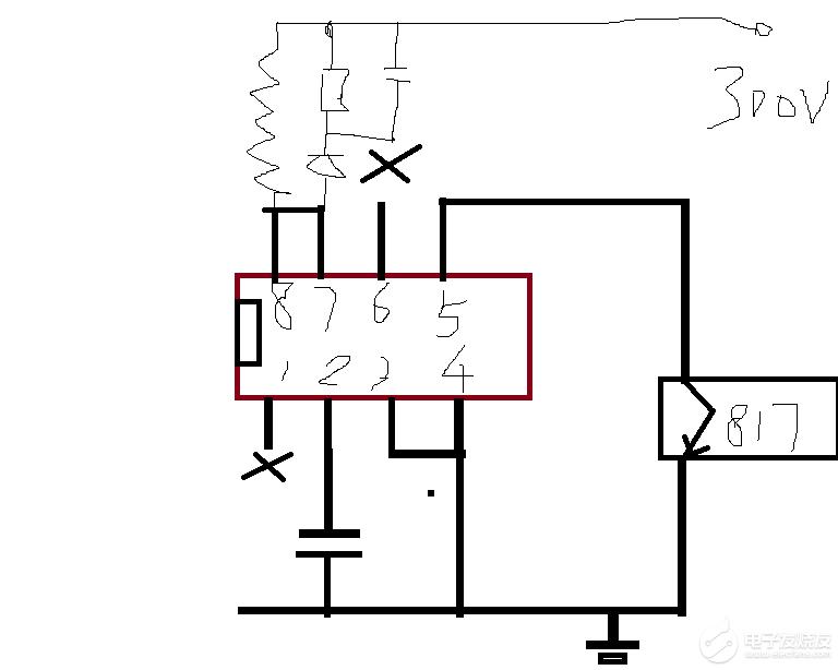 8腳電源芯片被打磨型號,請問哪位高手認識?