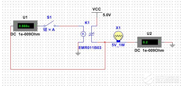 简单的multisim仿真电路(由继电器构成的振荡器)不振荡?
