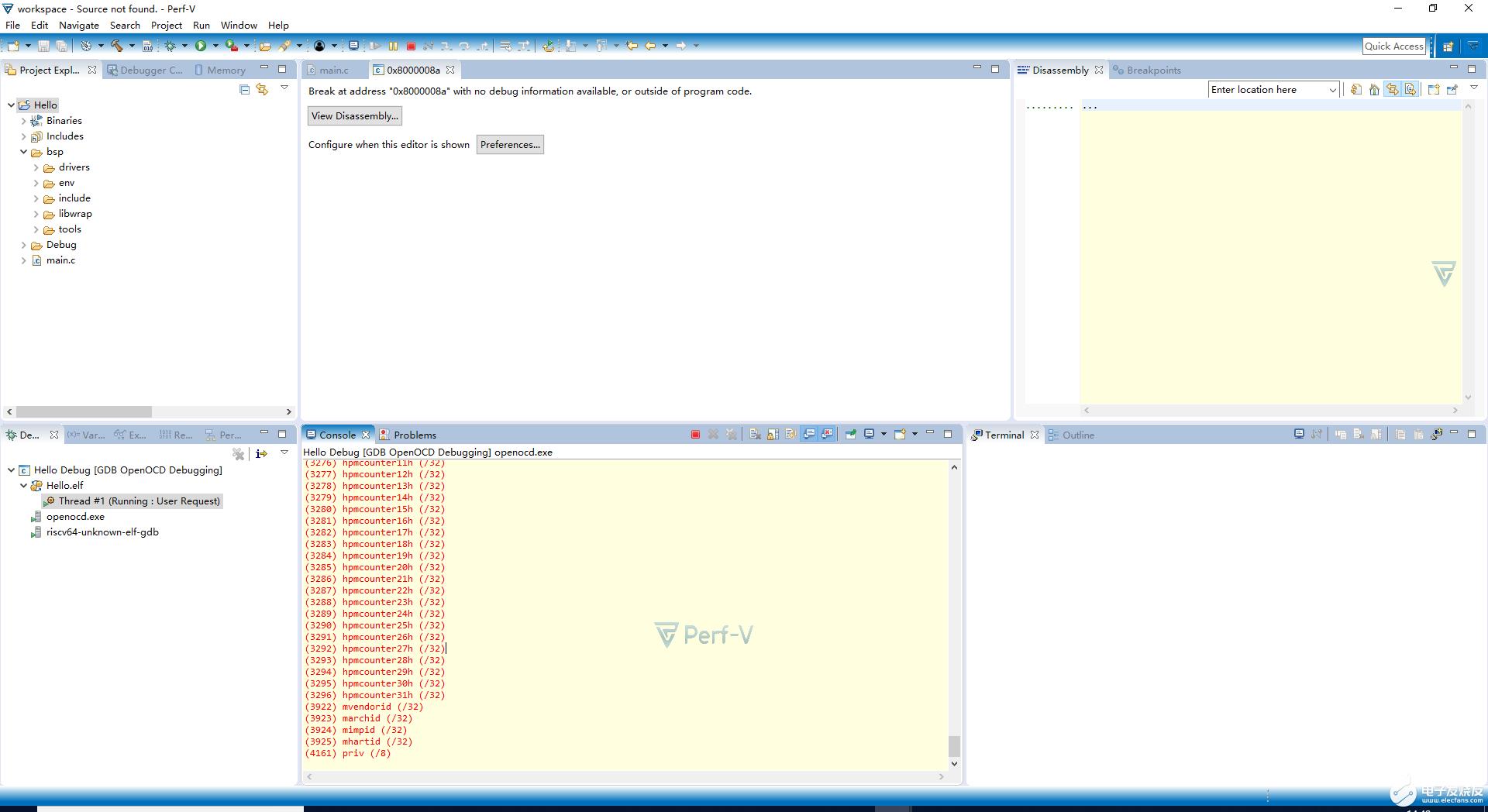 【RISC-V】Lab3:Windows环境下使用Perf-V IDE
