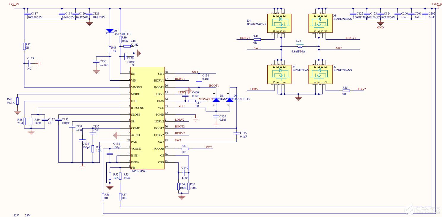 用lm5175控制器設計一IN12V,OUT28V的電源,輸出電壓不穩問題