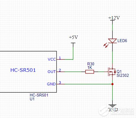MOS管为何没导通负载端还有电压?