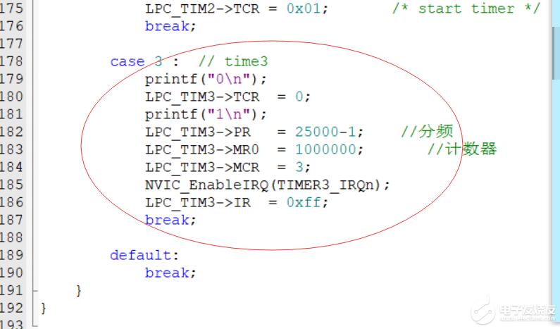 NXP LPC1768 timer3定时器问题