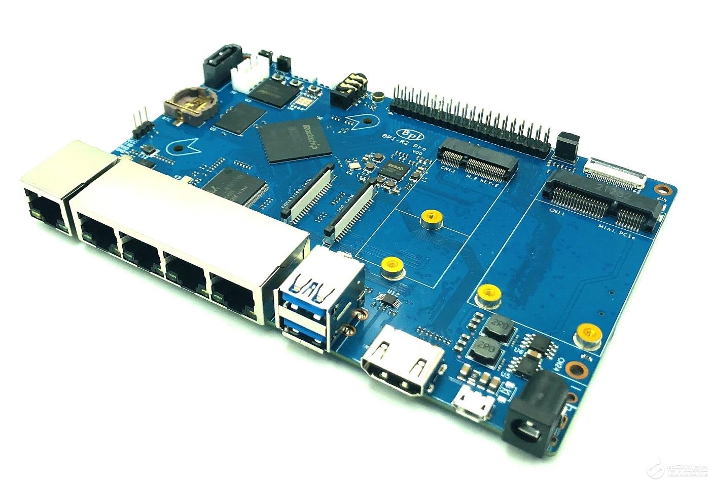 Banana Pi BPI-R2 Pro 開源路由器采用瑞芯微(Rockchip) RK3568芯片方案設計