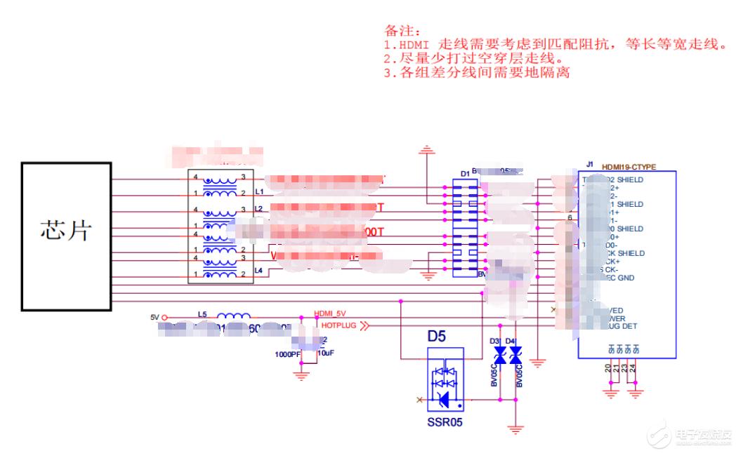 【资料】HDMI接口EMC设计标准电路