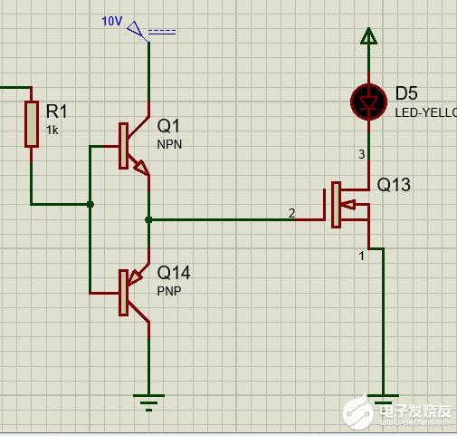 图腾柱驱动电路电压问题