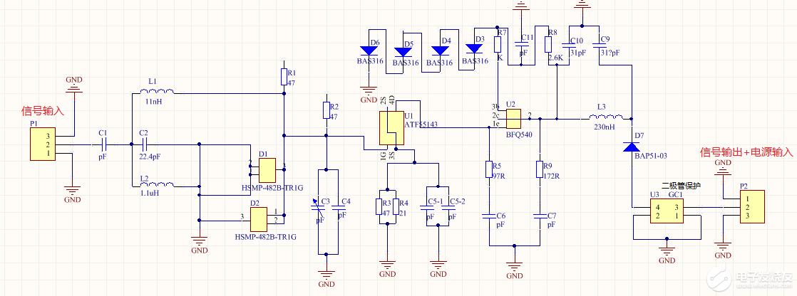 请问U1-ATF55143是怎么供电的?