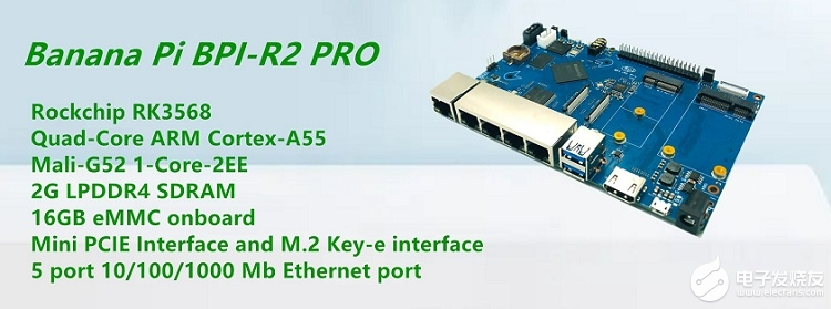 Banana Pi BPI-R2 Pro 开源路由器采用瑞芯微(Rockchip) RK3568芯片方案设计