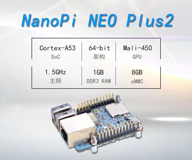 NanoPi NEO Plus2开发板免费试用